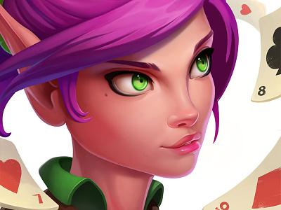 Character Avatars head design men girl avatar skeleton villain dwarf concept wizard elf magic cards game poker creature illustration art portrait character