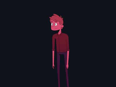 Silence speaker speech design style flat guy mouth hands man human thoughts speak art illustration animation character