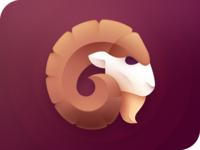 Ram Logo brand logotype eye sheep horn head icon animal digital design branding symbol ram mark logo identity