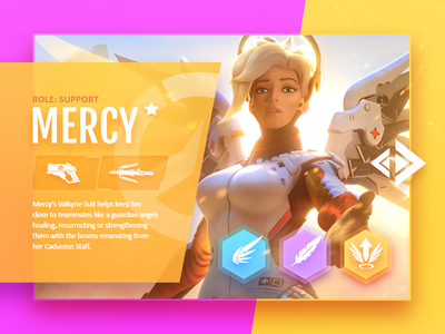 Overwatch: Mercy web game blizzard character ux ui design mercy overwatch