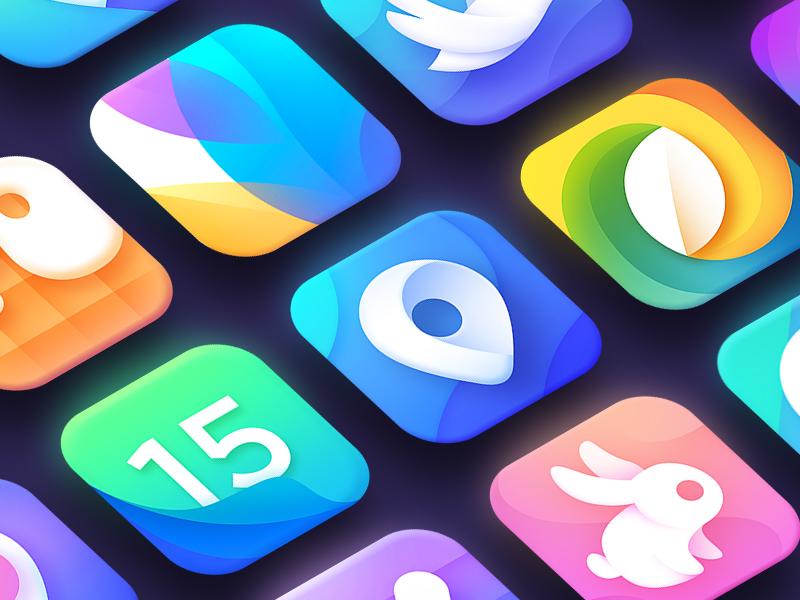 App Icons calendar waffle bunny location icons icon mark logotype logo ios app