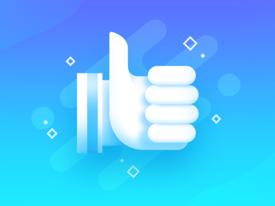 Like blue finger mark icon page up thumb like design game winner win