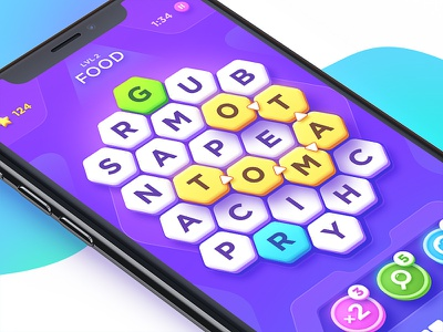 Word Puzzle sci-fi search puzzle word ux ui interface ios iphonex iphone x game app