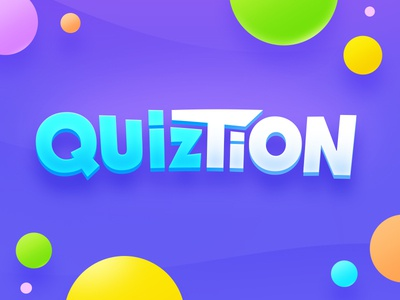 Trivia Game Logo concept gamelogo question quiz trivia game letter typography typo logotype logo design