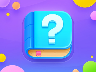 Trivia App Icon appicon trivia quiz game design turquoise book icon app mark question