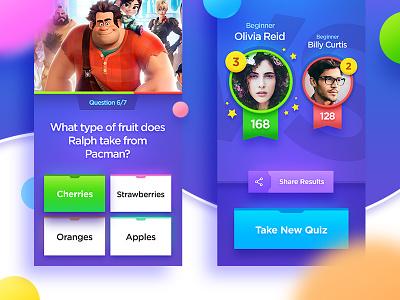 Quiztion Trivia Game gui trivia quiz icon ios interface design ui game app