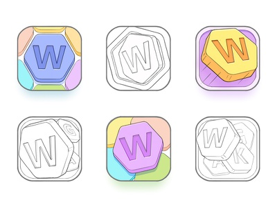 App Icon Sketches puzzle letter ios game word sketches sketch design icons icon app