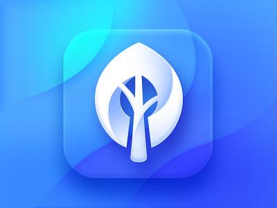Wallpaper Tree App Icon symbol clean appstore neststrix logotype gradient branding appicon iphone wallpapers wallpaper design logo mark ios color blue icon tree app