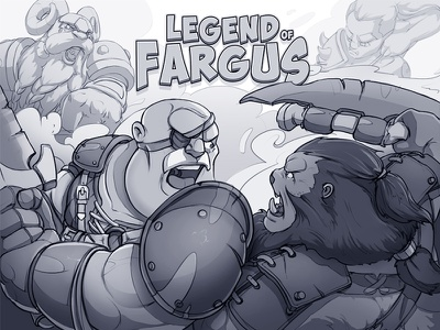 Legend of Fargus - Characters Design gameart face wizard rpg hero avatar fantasy art illustration warrior war sketch legend humans game concept character bomber assassin archer