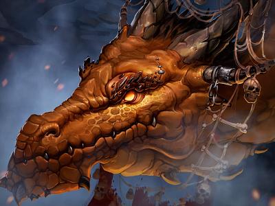 Fantasy Characters game art beast emblem pikestaff sword weapon ax set game concept illustration art characters magic monk dragon soldier warrior dwarf