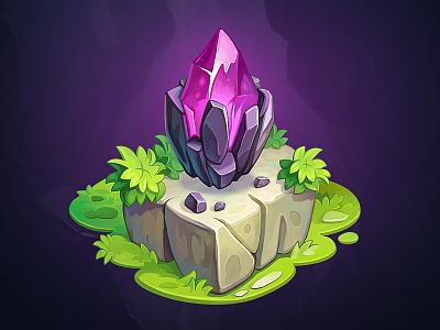Treasure Hunter - Game objects ancient magic diamond adventure stone jungle wild relics sundial chest treasure gem mask tiki illustration assets object art game concept