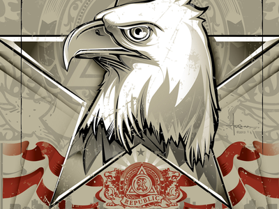 For Which It Stands © Orlando Arocena 2013 for which it stands republic worldwide lodge gallery nyc orlando arocena vector bald eagle art exhibition