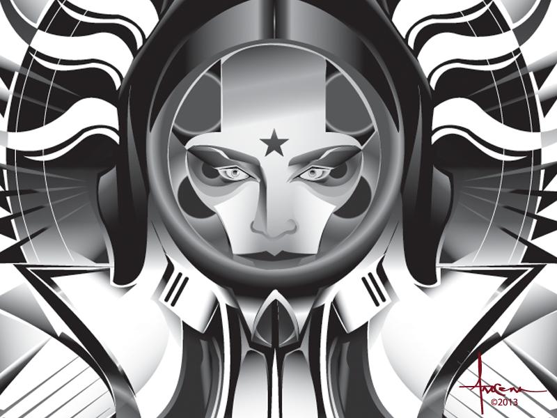 Dementia Spacegirl Orlando Arocena 2013 vector orlando arocena sexy adobe illustrator spacegirl