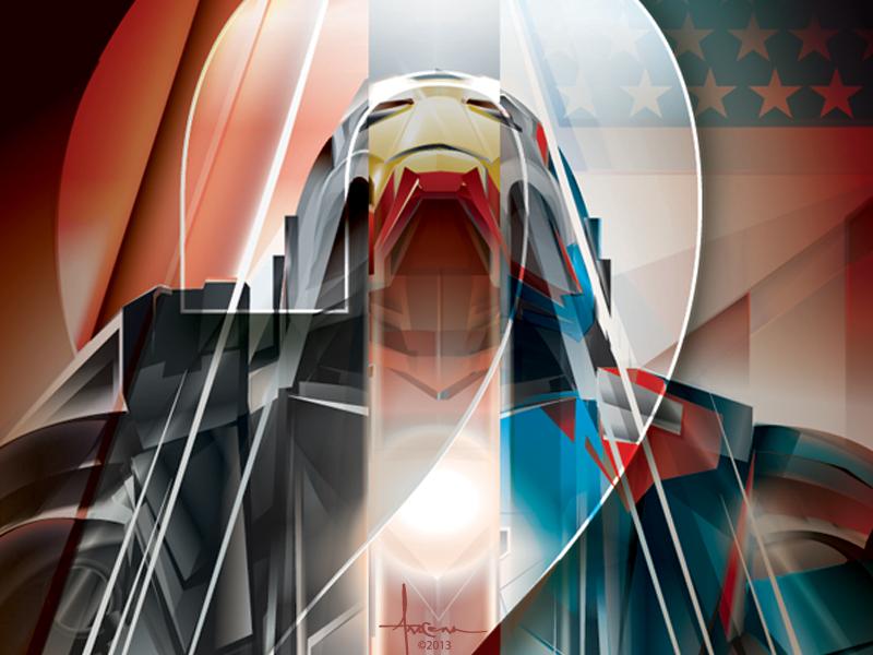 Ironman 2 ©  Orlando Arocena 2013 Drbl vector adobe illustrator orlando arocena ironman war machine iron patriot movie poster