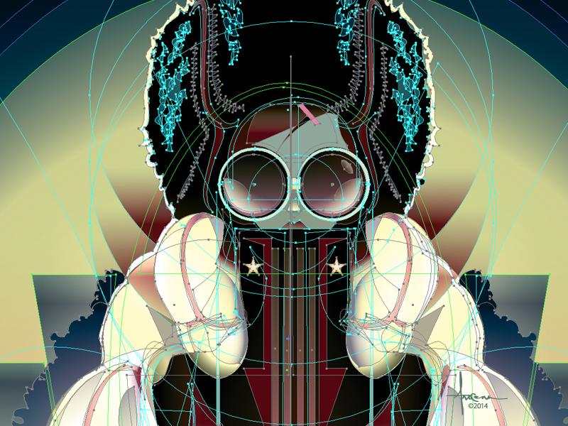 Lady Ushanka   Orlando Arocena 2014 Drbble vector adobe illustrator orlando arocena sexy dogs fashion moon glasses style stars hat