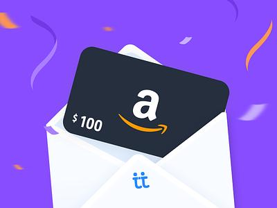 Amazon Gift Card gift card illustration amazon card gift