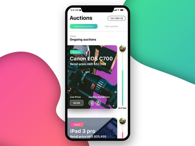 iPhone X auction bid bidding auction iphone x