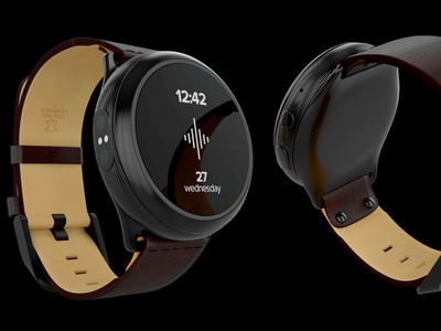 Soundbrenner Core - Product render soundbrenner music steel leather closeup productshot product lighting cad vray
