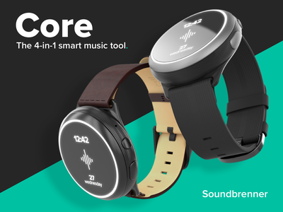 Product render - Soundbrenner Core render tool music musicians smartwatch silicone leather cad vray 3dsmax