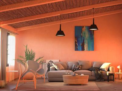 Interior design concept render