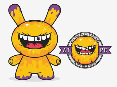 Dunny Concept dunny kidrobot all the pretty colors character vector nathan walker mouth logo badge yellow