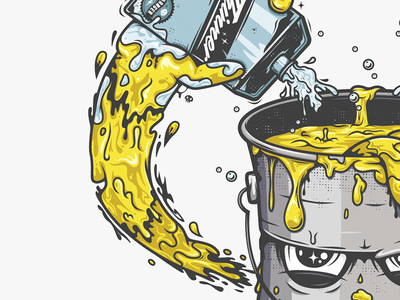 Pure Gold illustration graffiti vector paint all the pretty colors nathan walker atpc gold