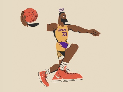King James sketch sports sneakers all the pretty colors nathan walker character nba basketball lebronjames