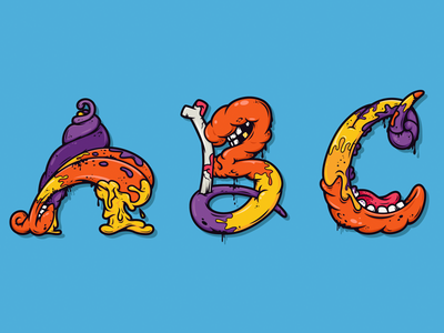 Alphabetcha Series 2 alphabetcha alphabet letters atpc nathan walker all the pretty colors gross illustration