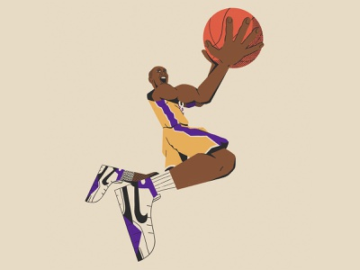 KOBE! kobe bryant nathan walker hand character sports nba basketball sneakers lakers