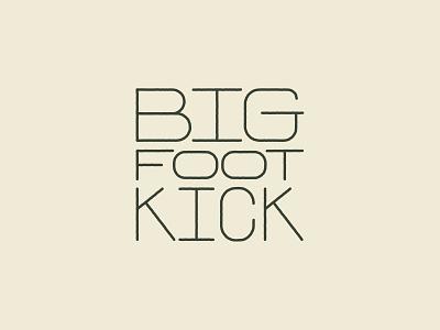 Big Foot Kick karate forest nathan walker lettering logo bigfoot branding