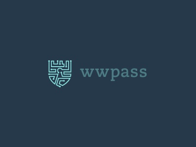 wwpass Logo concept 2 logo shield security