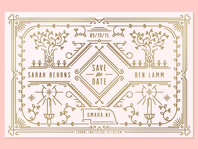 Save the Date letterpress nathan walker invitation save the date illustration wedding
