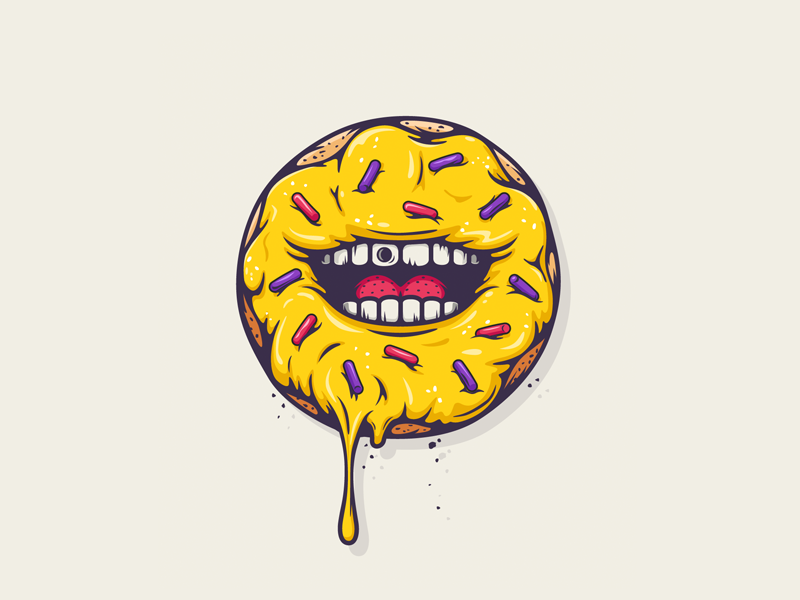 of donut logo  All The Pretty Colors donut stickers by Nathan Walker - Dribbble