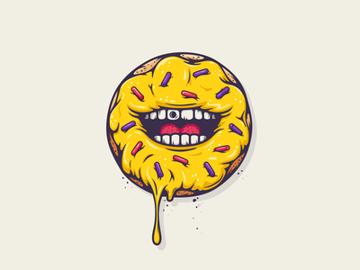 All The Pretty Colors donut sweets illustration nathan walker all the pretty colors atpc logo food donut