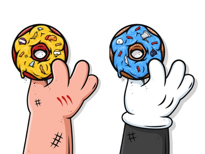 Donuts! nathan walker all the pretty colors hand homer simpson the simpsons family guy sweets donut