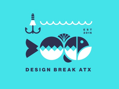 Design Break ATX nathan walker simple logo atx largemouth bass lure bass fishing fish