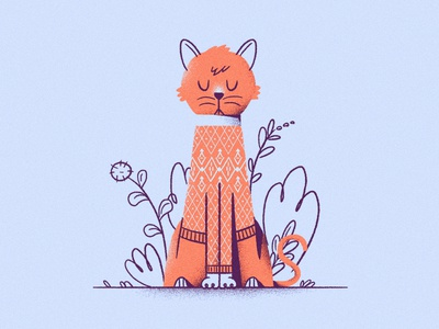 i Cat all the pretty colors nathan walker type letters i animals peaceful calm fashion sweater cat
