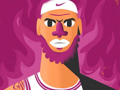 Lebron James all the pretty colors nathan walker character playoffs sports nike nba basketball lebron lebron james
