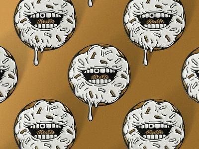 Sweet Smile pins all the pretty colors nathan walker happy drippy snack sweet pin enamel pin smile donut