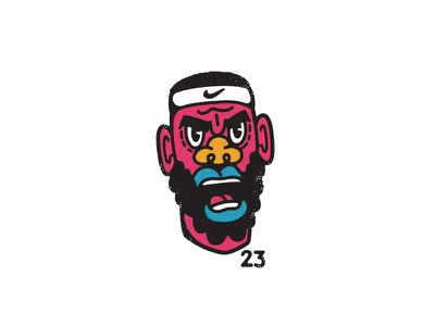 Angry Bron all the pretty colors nathan walker character playoffs sports nike nba basketball lebron lebron james