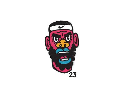 Angry Bron all the pretty colors nathan walker character playoffs sports nike nba basketball lebron lebron james