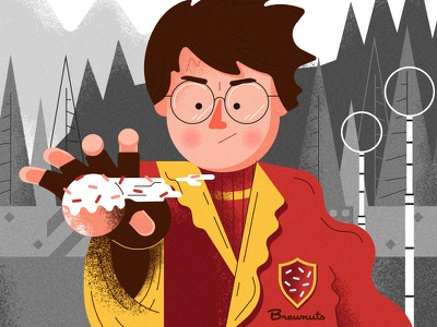 Brewnuts & Harry Potter character fan art all the pretty colors nathan walker harry potter beer donuts