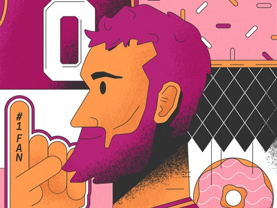 Brewnuts X Kevin Love all the pretty colors nathan walker portrait nba donut kevin love sports basketball
