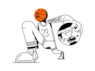 Ball so hard all the pretty colors nathan walker basketball player character athlete shoes nike nba sports basketball
