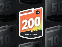 UA Hovr Badges