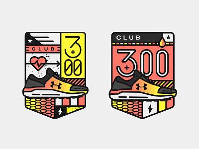 Unused Badge Designs u logo shoes sports running lockup badge under armour ua