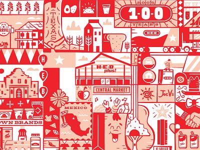 HEB Mural store texas tech hub heb mural