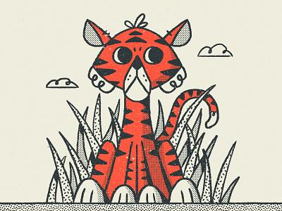 Tiger tigers nathan walker texture retro animal cute tiger