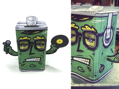 Sprite - Mike Check character vector illustration sprite can nathan walker atpc all the pretty colors hipster green mc dj