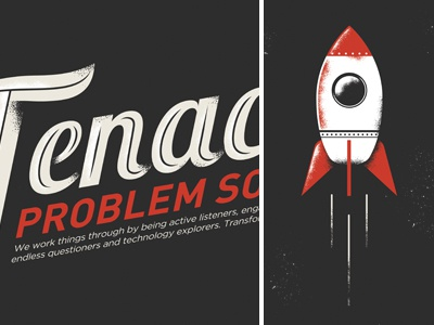 Agency Internal poster Concept 2 agency vector illustration screen print nathan walker atpc atpcdesign all the pretty colors poster space rocket
